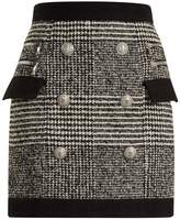 Balmain Hound's-tooth check mini skirt