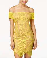 Material Girl Juniors' Off-The-Shoulder Lace Dress, Created for Macy's
