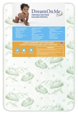 Dream On Me EvenFlo Baby Suite 2-Stage Mini Crib Mattress
