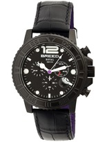 Breed Von Marcus Collection BRD6704 Men's Stainless Steel Watch with Leather Strap