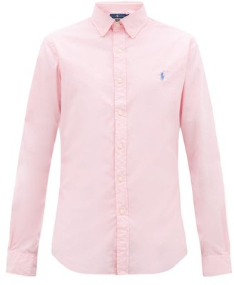 Polo Ralph Lauren Logo-embroidered Featherweight Cotton-twill Shirt - Mens - Pink