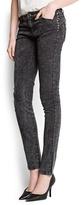 MANGO Studded slim trousers