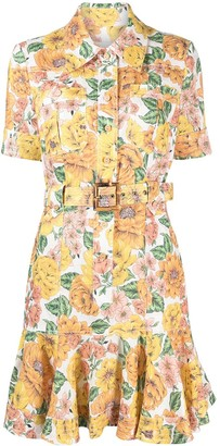 Zimmermann Floral Shift Shirt Dress