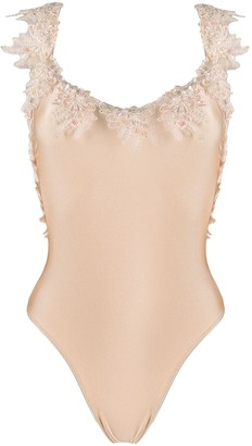 La Reveche Floral-Trim One-Piece