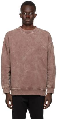 N.Hoolywood Burgundy Faded Sweatshirt