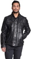 Excelled Men's Excelled Leather Military Jacket