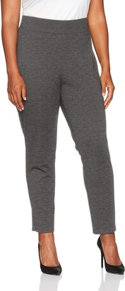 Ruby Rd. Women's Plus-Size Pull-on Stretch Ponte Ankle Legging