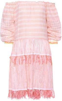 Lemlem Off-the-shoulder cotton dress