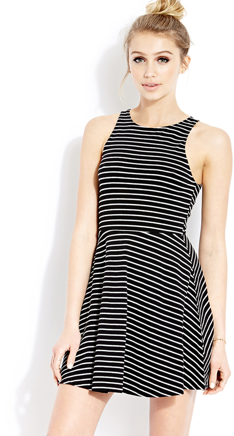 Forever 21 Classic Striped Fit & Flare Dress