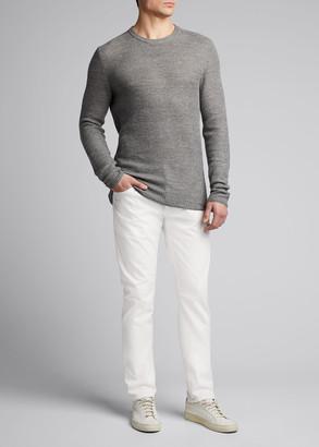 Isaia Men's Linen-Wool Knit Sweater