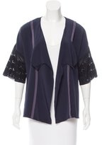 Vena Cava Embroidered Open Front Cardigan
