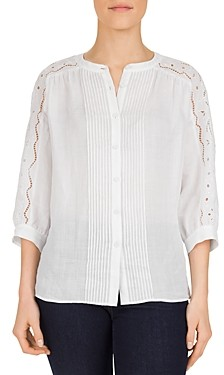 Gerard Darel Marylou Embroidered Inset Top