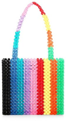 Susan Alexandra Rainbow Beaded Tote