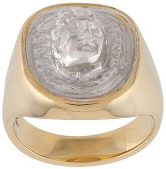 VICTORIA STRIGINI Medusa signet ring