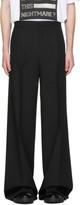 Raf Simons Black Wool Wide-Leg Chino Trousers