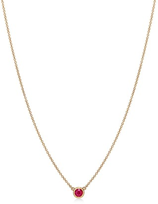 Tiffany & Co. Elsa Peretti Color by the Yard pendant in 18k gold with a ruby