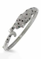 Effy Jewelry Signature White Gold Diamond & Emerald Bangle, 3.46 TCW