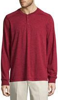 ST. JOHN'S BAY St. John's Bay Long Sleeve Henley Shirt