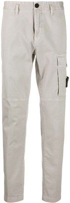 Stone Island Logo Patch Cargo Trousers