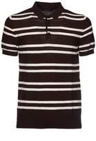 Jeordie's Striped Pattern Polo Shirt