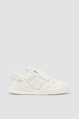 adidas A.r. Trainer Suede-trimmed Quilted Leather Sneakers - Off-white