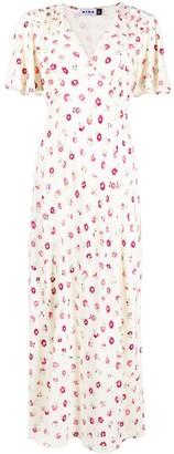 Rixo Short-Sleeved Midi Dress