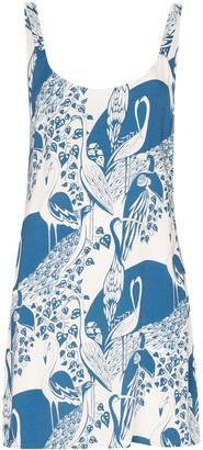 Reformation Puglia flamingo-print mini dress