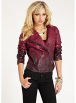 GUESS Ombre Faux-Leather Moto Jacket