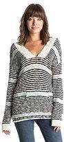 Roxy Junior's Warm Heart Stripe Hooded Poncho Sweater