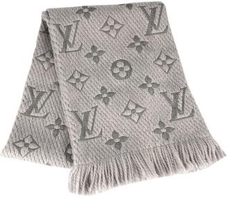 Louis Vuitton Logomania Grey Wool Scarves