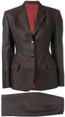 Jean Paul Gaultier Pre Owned Jacquard Skirt Suit