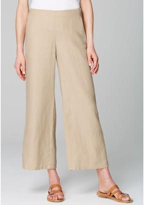J. Jill J.Jill Linen Wide Leg Pants with Pockets