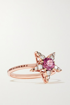 Selim Mouzannar Istanbul 18-karat Rose Gold, Rhodolite And Diamond Ring
