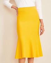 Ann Taylor Fluted Sweater Skirt
