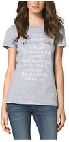 Michael Kors Ss Beaches Logo Tee