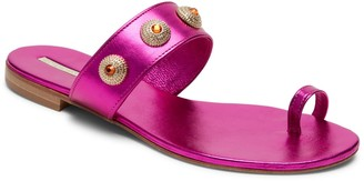 Alexis Isabel Uni Pink Jeweled Sandals
