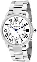 Cartier Ronde Solo W6701011 Men's Round Silver Stainless Steel Watch