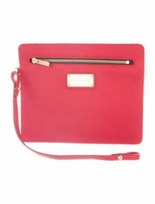 Salvatore Ferragamo Leather Clutch Bag Red