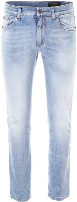 Dolce & Gabbana Slim-Fit Washed-Out Jeans