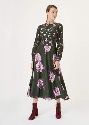 Hobbs Silk Winter Rose Dress