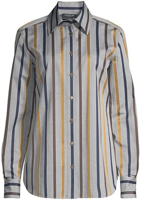 Lafayette 148 New York James Striped Blouse