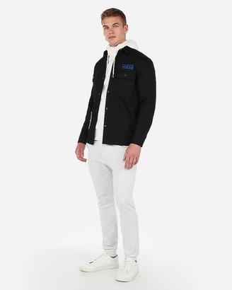 Express Philadelphia 76Ers Nba Twill Shirt Jacket