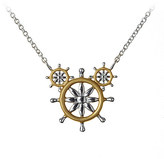 Disney Mickey Mouse Ship's Wheel Necklace by Rebecca Hook