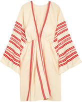 Celia Dragouni - Embroidered Cotton Kaftan - medium