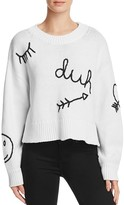Wildfox Couture Duh Embroidered Sweater