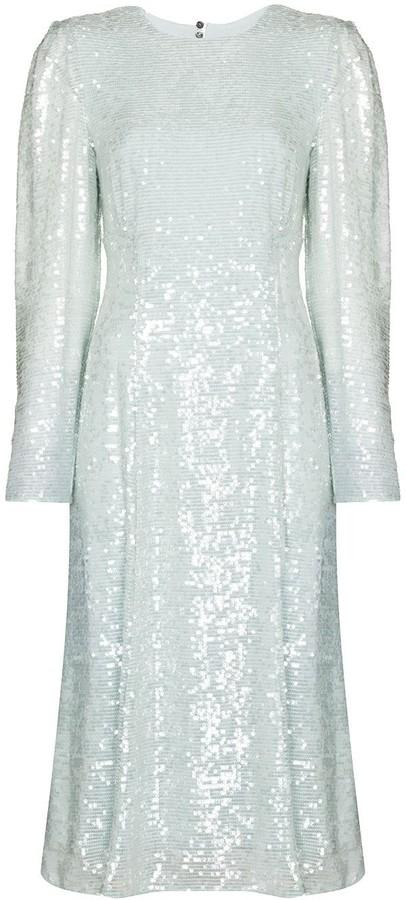Erdem Ivor sequin bowtie dress