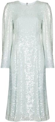 Erdem Ivor sequin bowtie dress
