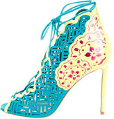 Nicholas Kirkwood Stencil Lace-Up Pumps w/ Tags