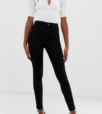 New Look Tall disco skinny jeans in black