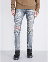 Embellish Strangler Skinny Distressed Jeans